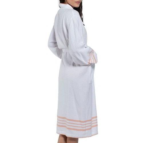 Lalay hamam badjas Krem Sultan kimono white melon