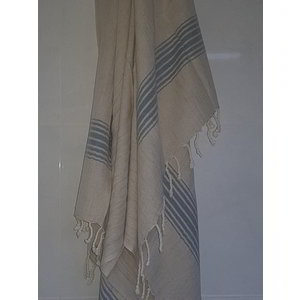 Ottomania linnen hamamdoek jeansblauw