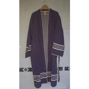 Lalay hamam badjas Krem Sultan kimono dark purple