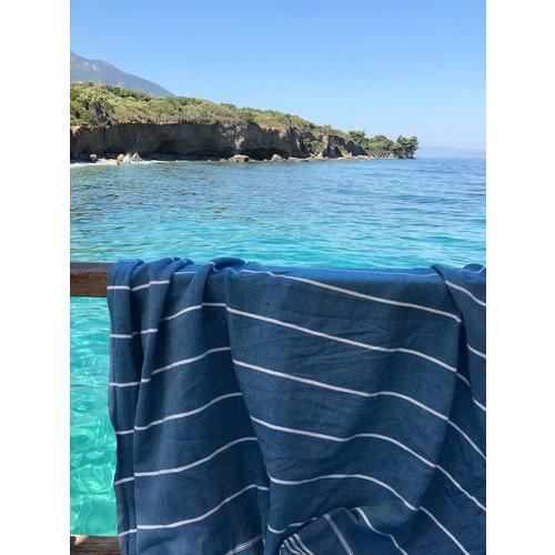 Ottomania hammam strandlaken oceaanblauw