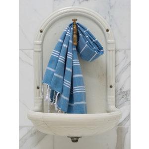 Ottomania hamam handdoek oceaanblauw