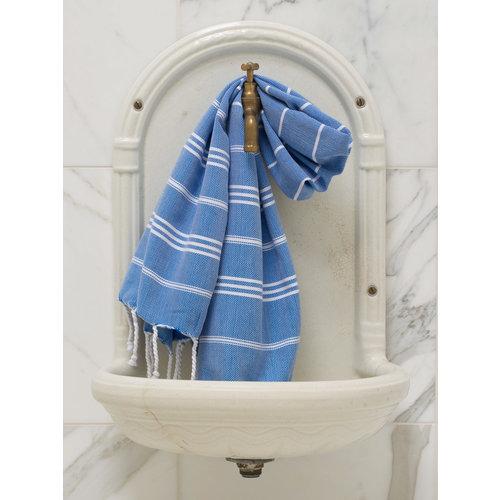 Ottomania hamam handdoek mediteraanblauw