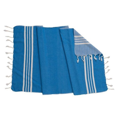 Lalay gastendoek Krem Sultan blue