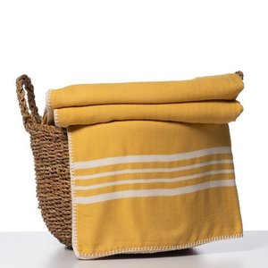 Lalay hamam plaid XXL Krem Sultan mustard yellow