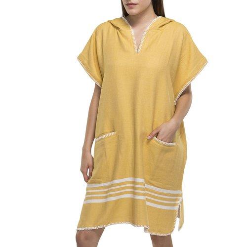 Lalay strandponcho Sultan mustard yellow