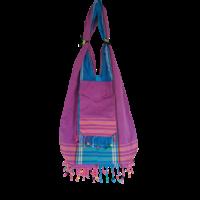 Kikoy beach bag purple pink