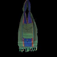 Kikoy beach bag green purple