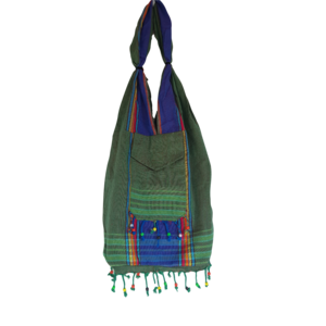 Hamams own Kikoy beach bag green purple