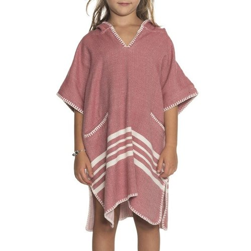 Lalay kinder strandponcho dusty rose