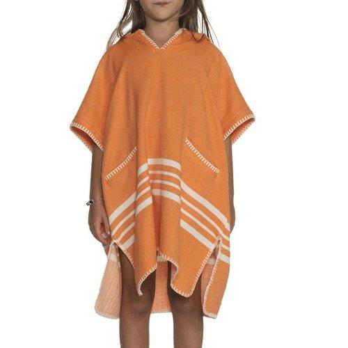 Lalay kinder strandponcho orange