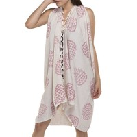 Pareo tuniek hand printed dusty rose