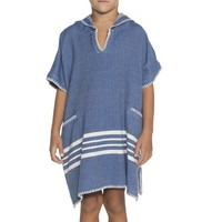 kinder strandponcho hamam royal blue