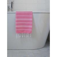 hamam handdoek zuurstokroze