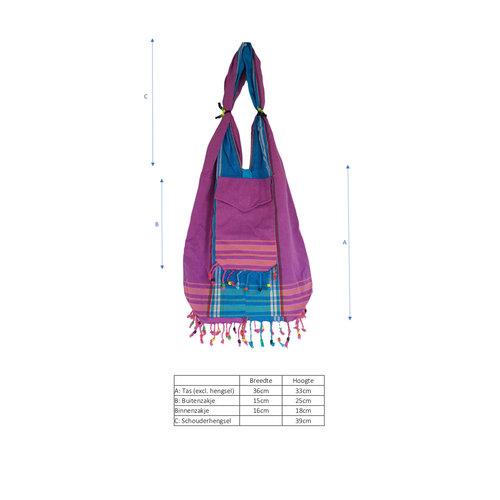 Hamams own Kikoy beach bag purple pink