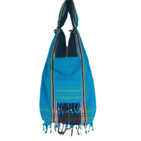 Kikoy beach bag blue