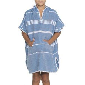 Lalay kids zwemponcho Leyla petrol blue