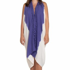 Lalay pareo tuniek tie dye natural violet