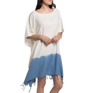 Lalay tie dye strandtuniek air blue