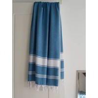 hamamdoek Honingraat oceaanblauw