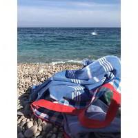hammam strandlaken mediteraanblauw