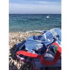 Ottomania hammam strandlaken mediteraanblauw