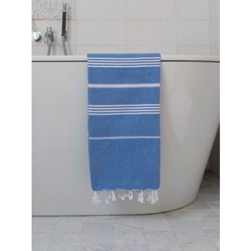 Ottomania hamamdoek mediteraanblauw