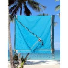 PURE Kenya kikoy kinder strandlaken Lamu blue