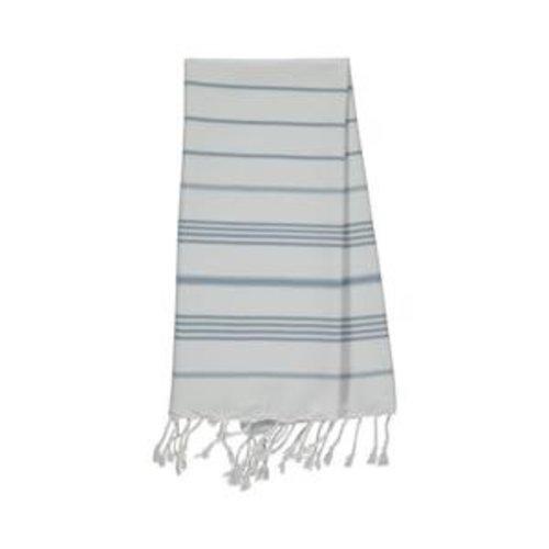 Lalay kleine hamamdoek Leyla white - air blue