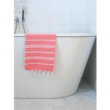 Ottomania hamam handdoek koraalrood