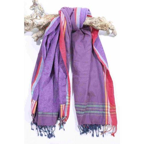 PURE Kenya kikoy strandlaken Kaloleni purple red