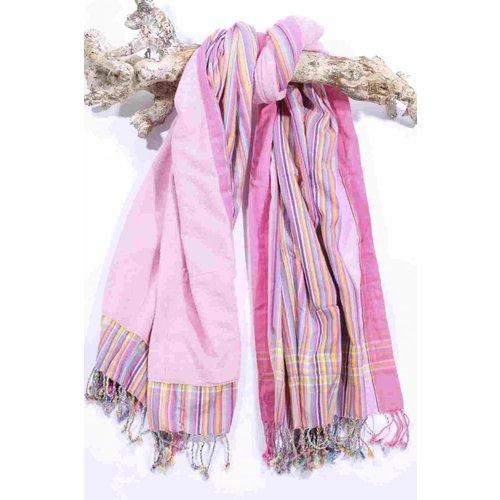 PURE Kenya kikoy strandlaken sweet pink stripes
