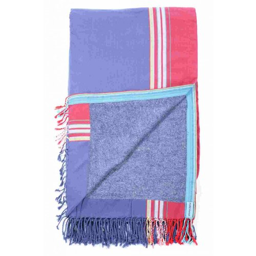 PURE Kenya kikoy XL strandlaken blue & red