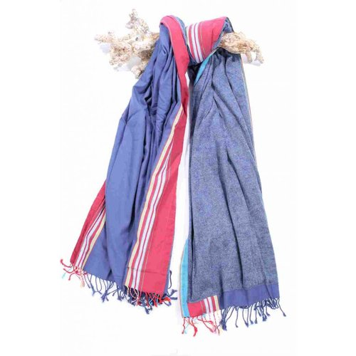 PURE Kenya kikoy XL strandlaken blue & red