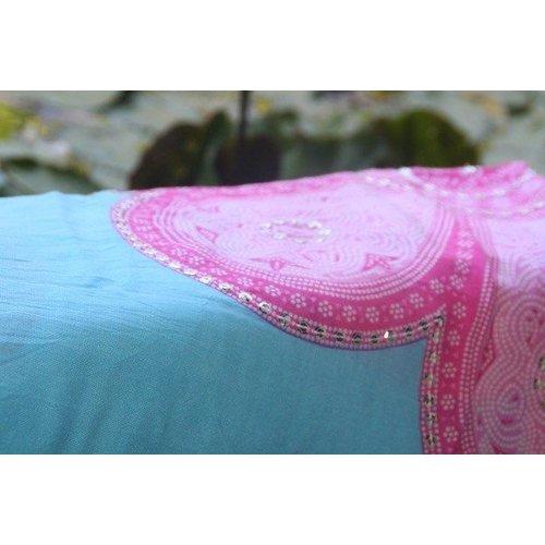 Call it Fouta! Pareo Flower blue pink