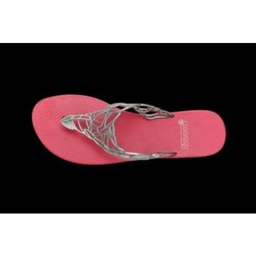 Batucada Slippers Acacia chrome & pink