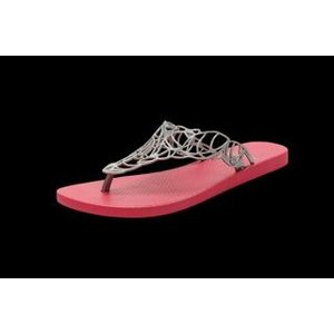 Batucada Slippers Acacia chrome & pink