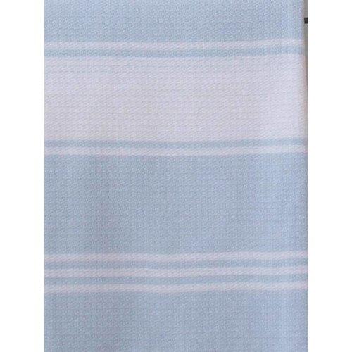Ottomania hamamdoek Honingraat lichtblauw met witte strepen 170x100cm