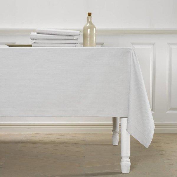Kalahari grey/white, damast tafellinnen