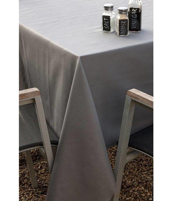De Witte Lietaer Kalahari charcoal, damast tafellinnen
