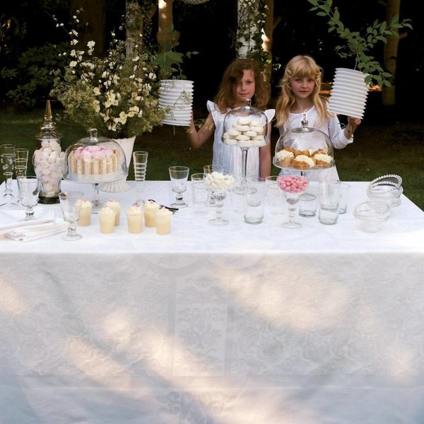 Siena blanc / wit tafellinnen