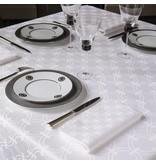 Le Jacquard Français Anneaux blanc / white tafellinnen