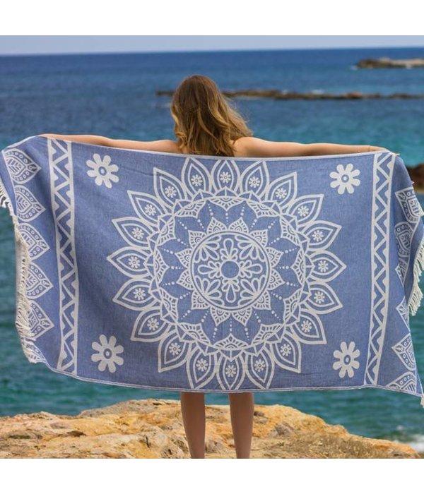 Fashion4Wellness Hamamdoek Bohemian Marine blue
