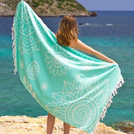 Fashion4Wellness Hamamdoek Gypsy Green of Sea
