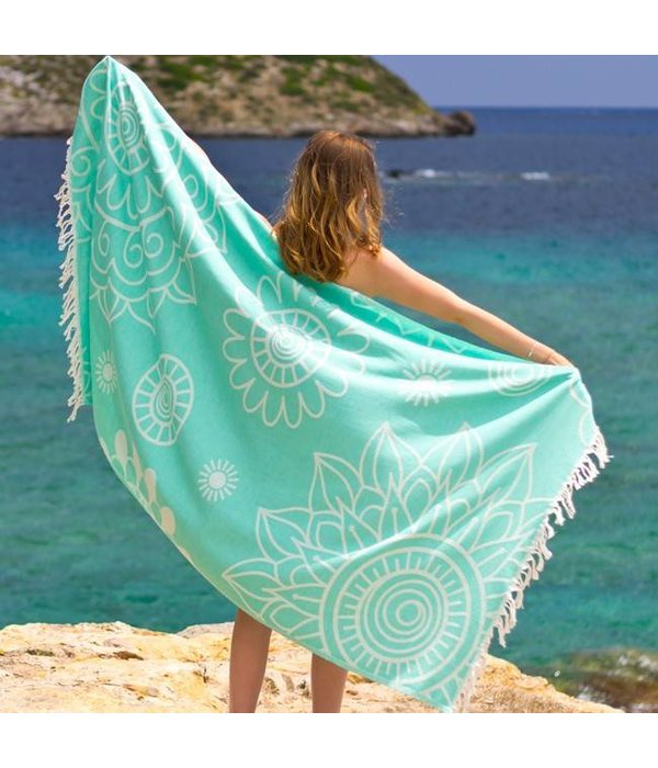 Fashion4Wellness Hamamdoek Gypsy Green of Sea