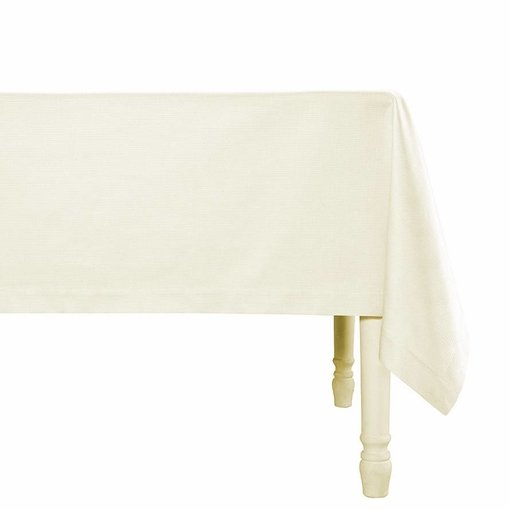 De Witte Lietaer Kalahari wit/champagne, damast servetten