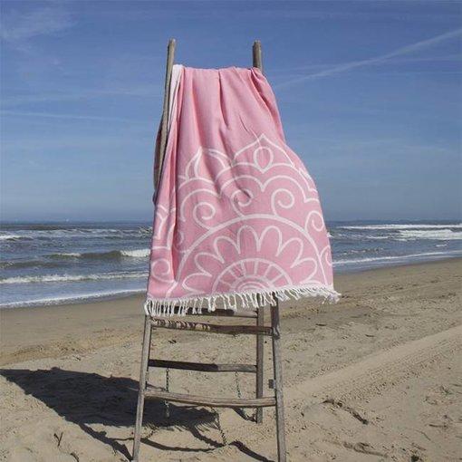 Fashion4Wellness Hamamdoek Las Dalias - lovely pink