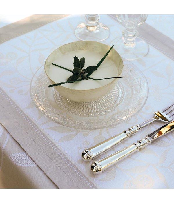 Le Jacquard Français Venezia ivoire tafellinnen