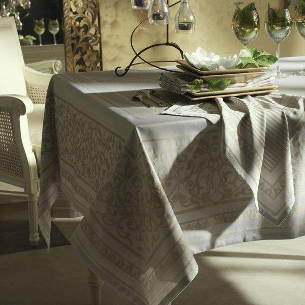 Amboise wit/grijs tafellinnen 160x160