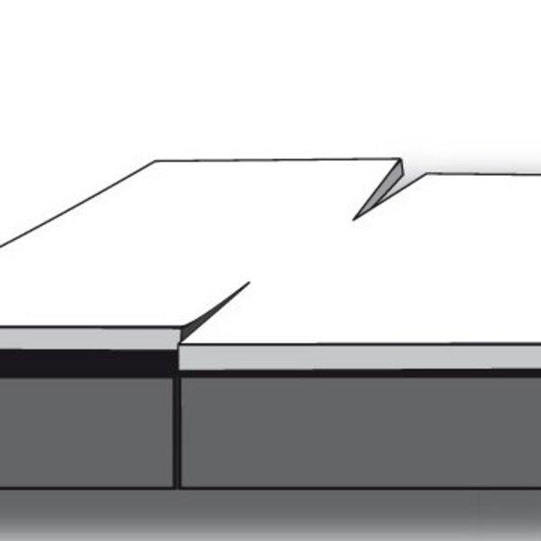 Dubbel split topper hoeslaken katoen satijn 5-10 cm hoog