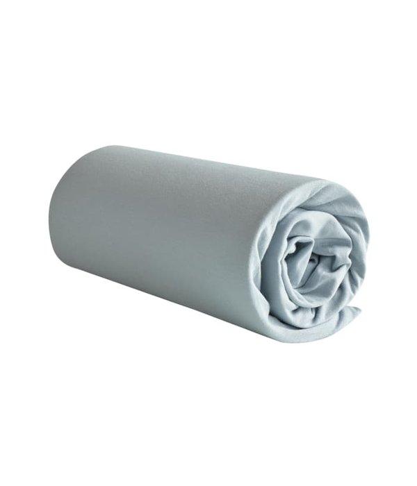 De Witte Lietaer Jersey hoeslaken Case ice blue matrashoogte vanaf 22 t/m 32 cm